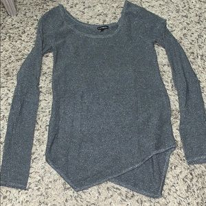 Sparkly scoop neck sweater